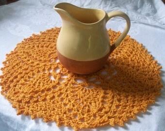 Golden Wool Doily