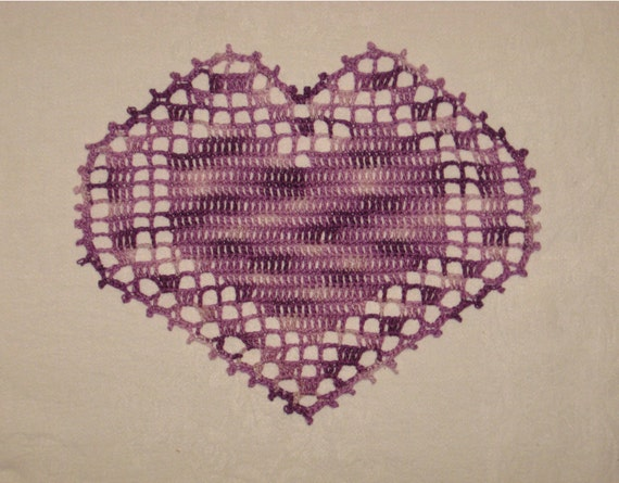 Purple Heart Doily