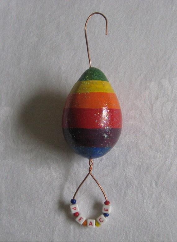 Rainbow Gourd Ornament