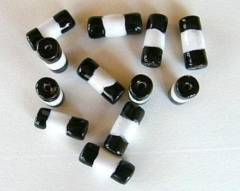 Kazuri bamboo beads - 12