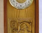 stormy night bear chiming clock-hand made