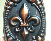 Bronzed Antiqued Fleur De Lis Soap set of 4