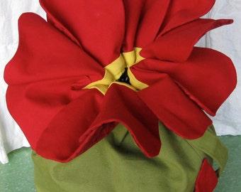 Red Rose Purse - custom Flower Purse