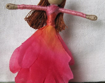 Flower Fairy PDF, doll pattern, fairy doll instructions