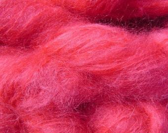 Mohair Yarn in Sun Red Fingering Weight