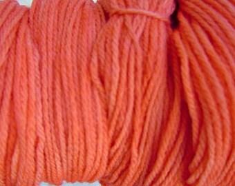 Little Orange DK Sport Weight Hand Dyed Merino Wool Yarn
