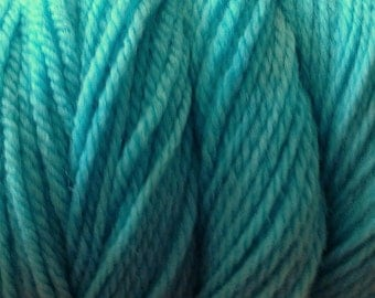 Ice Blue Worsted Weight Hand Dyed Merino Wool Yarn Aqua