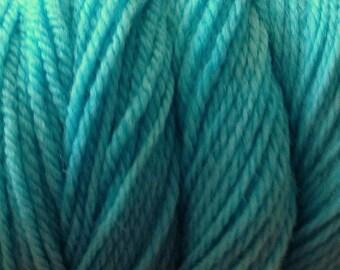 Ice Blue DK Sport Weight Hand Dyed Merino Wool Yarn Aqua