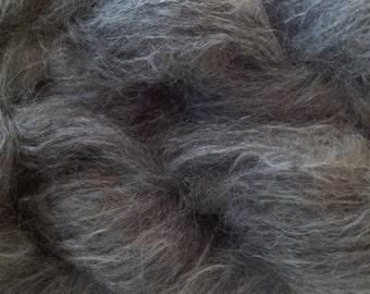 Mohair Yarn in Smoke Gray Fingering Weight