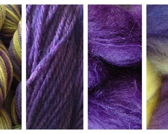 Hand Dyed Samples of Merino Wool DK Sport Weight Yarn in Autumn Hydrangea