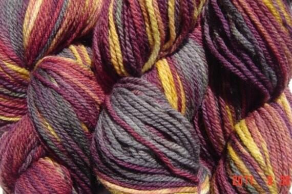 Handpainted Merino Wool DK Sport Weight Yarn in Diablo Smoke