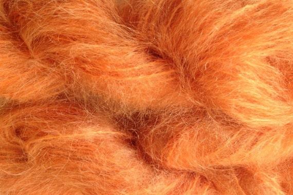 Mohair Yarn in Orange Fish Fingering Weight