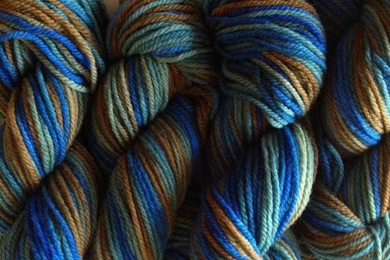 Blue Grass DK Sport Weight Handpainted Merino Wool Yarn