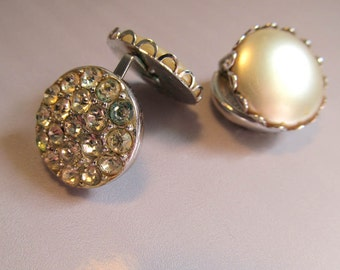Sarah Coventry Vintage Reversible Clip-on Earrings.