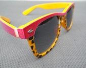 Vintage GONE WILD Leopard Print Sunglasses