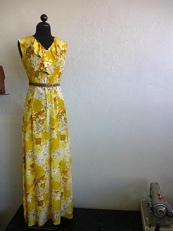 Vintage 1960s FALLING FOR FLORAL long dress