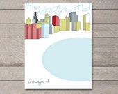 The Windy City (Winter Cityscape of Chicago, IL) Digital Print on Semi Gloss Paper, Multiple Sizes Available ,