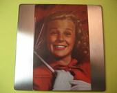 "Vintage June Allyson Postcard Movie ""Candid Color Card"" MGM  Jack Albin Kodachrome"