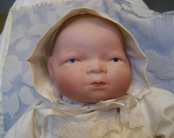 Vintage Bisque By-Lo Doll Repro Baby Bisque Head Baby Doll