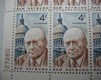 Sc. #1202 Sam Rayburn US Postage Stamps Unused Postage Stamp Sheet