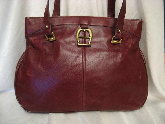 Vintage Etienne Aigner Leather Handbag Purse