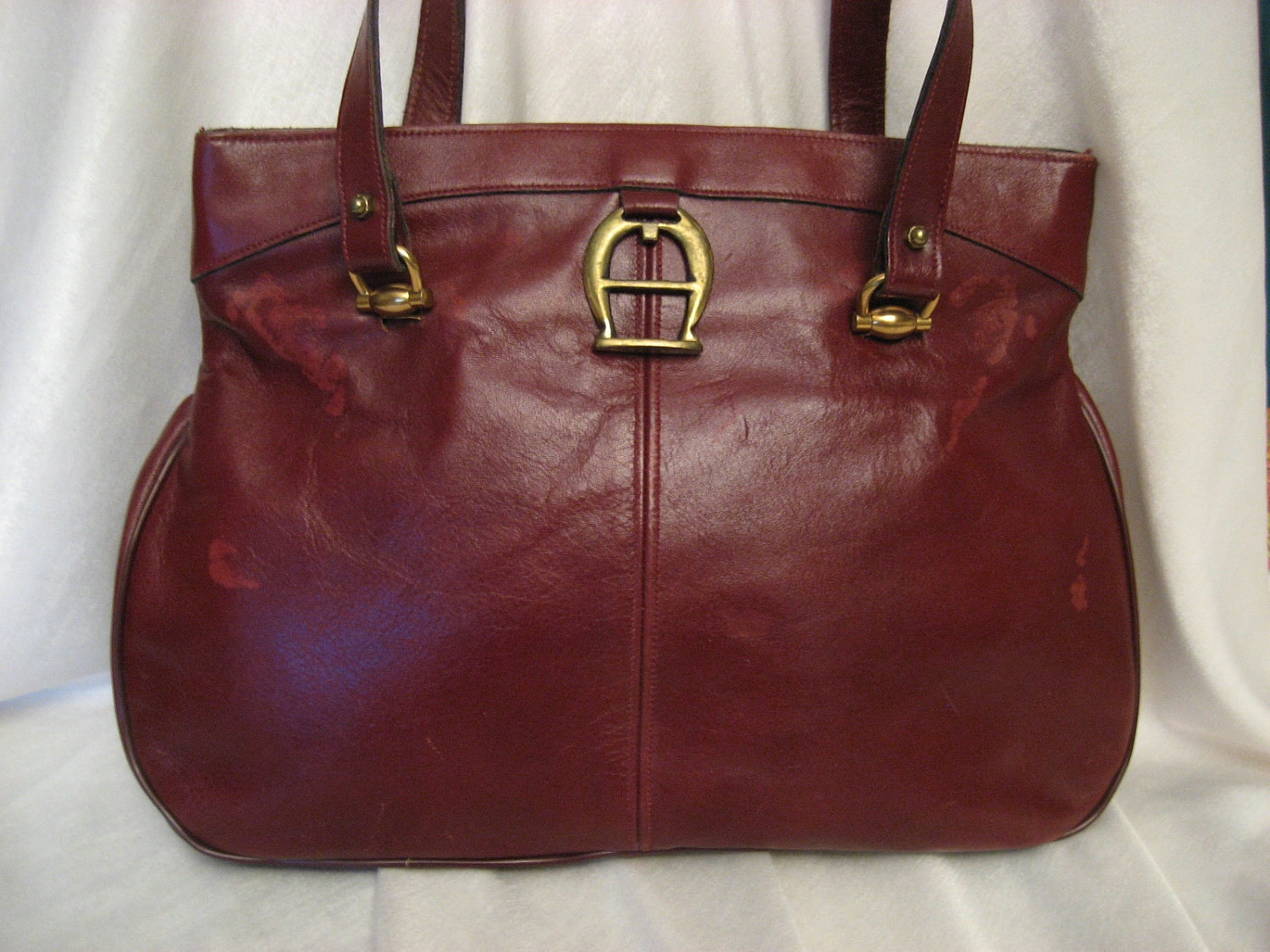 Vintage Etienne Aigner Leather Handbag Purse