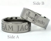 New WOLF Titanium Ring, Jewelry Free Sizing Band 4-17