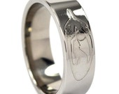 New 7mm Howling Wolf Titanium Ring: 7FP-FEATHERWOLF