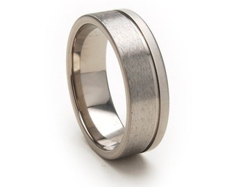 New 7mm Comfort Fit, Custom Titanium Ring-7FGOC-STXB