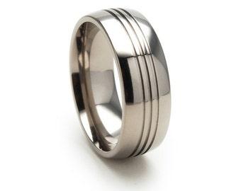 New 8mm USA Made, Custom Titanium Ring, Free Sizing Band 4-17