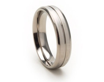 New 5mm Comfort Fit, Custom Titanium Ring: 5B1G-XB