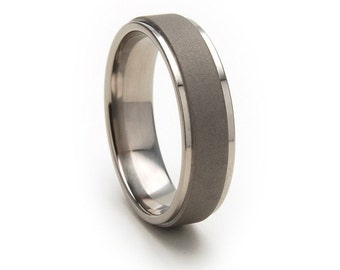 New 6mm Comfort Fit, Custom Titanium Ring: 6RC-SND