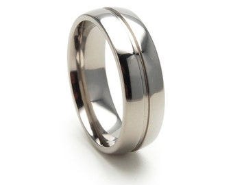 New 7mm Comfort Fit, Titanium Ring-7D11SEGBRT
