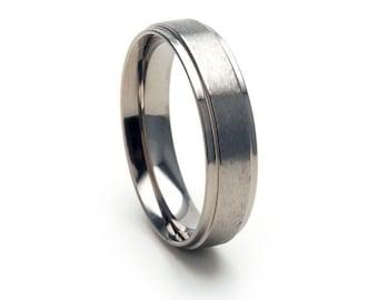 New 5mm Wide Comfort Fit Titanium Ring - 5RC-ST