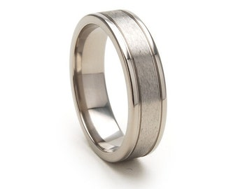 New 6mm Comfort Fit, Custom Titanium Ring,6F2G-STC