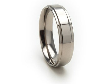 New 5mm Comfort Fit, Custom Titanium Ring:5RC-P