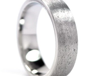 New 6 mm Cobalt Ring, USA Made, Comfort Fit - Sizing 4-17: COB-6hr-st
