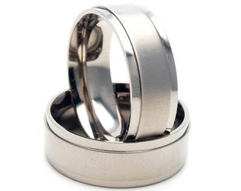 Titanium Ring Wedding Band: 8F1SXB