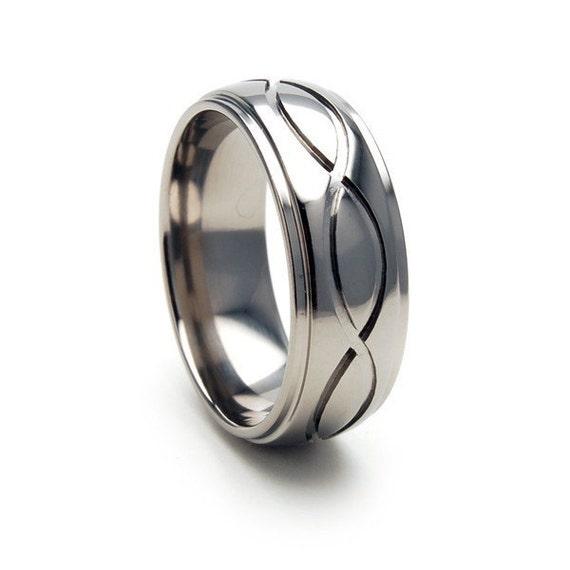 New ETERNITY Design Titanium Ring, Free Sizing Band 4-17: 8HRRC-T1-INFINITY