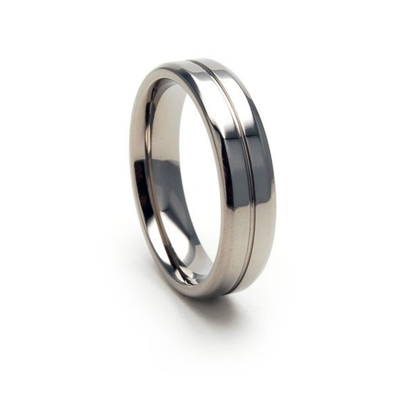 New 5mm Comfort Fit,Titanium Ring- 5B1G-P