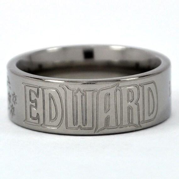 New VAMPIRE - Team Edward Titanium Ring