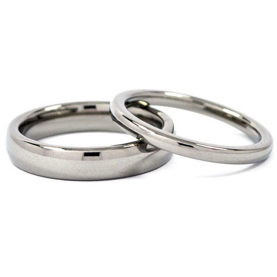 matching titanium his and hers ring set titanium promise