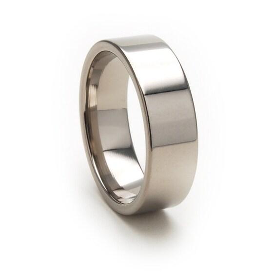 New 7 mm Titanium Wedding Ring with Free Sizing 4-17: 7FP