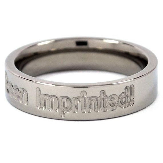 """New 5mm """"I've Been Imprinted"""" Titanium Ring"""