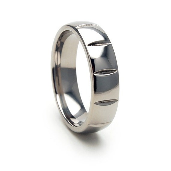 New USA Made Comfort Fit Milled Titanium Ring, Free Sizing Band 4-17