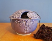 custom order - lavender yarn bowl with piping for sbethbis