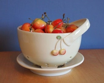 berry bowl with Queen Anne cherries