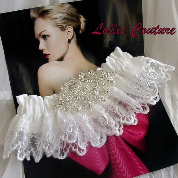 GLAMOROUS SET Garter  Lollie Couture Bridal Collection