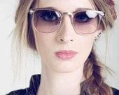 Deadstock Vintage 1980's Soho Cosmetic Champagne and Gold Sunglasses