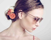 Deadstock Vintage 1980's Soho Cosmetic Rose and Gold Sunglasses